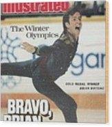 Usa Brian Boitano, 1988 Winter Olympics Sports Illustrated Cover Wood Print