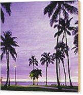 Usa, Hawaii, Oahu, Honolulu, Waikiki Wood Print