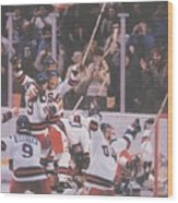 Usa Hockey, 1980 Winter Olympics Sports Illustrated Cover Wood Print
