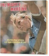 Usa Martina Navratilova, 1983 Us Open Sports Illustrated Cover Wood Print