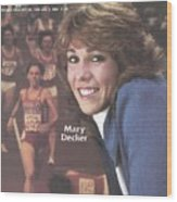 Usa Mary Decker, 1983 Sportswoman Of The Year Sports Illustrated Cover Wood Print