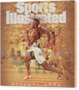 Usa Michael Johnson, 1996 Summer Olympics Sports Illustrated Cover Wood Print