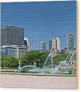 Usa, Michigan, Chicago, Buckingham Wood Print