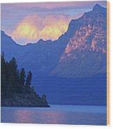 Usa, Montana, Glacier Np, Mountains Wood Print