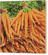 Usa, New York City, Carrots For Sale Wood Print
