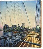 Usa, New York City, Manhattan, View Wood Print