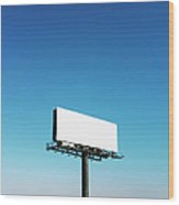 Usa, North Carolina, Billboard Under Wood Print