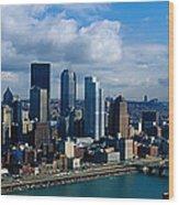 Usa, Pennsylvania, Pittsburgh, Skyline Wood Print