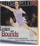 Usa Sarah Hughes, 2002 Winter Olympics Sports Illustrated Cover Wood Print