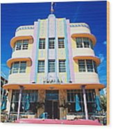 Usa,florida,miami Beach,art Deco Wood Print