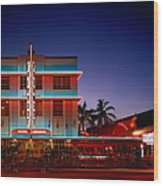 Usa,florida,miami,art Deco Historic Wood Print
