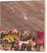 Utah, Autumn Leaves Piled Wood Print