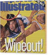 Utah Jazz John Stockton, 1998 Nba Western Conference Finals Sports Illustrated Cover Wood Print