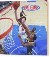 Utah Jazz V Detroit Pistons Wood Print