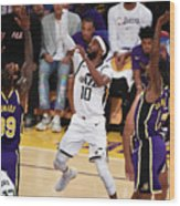 Utah Jazz V Los Angeles Lakers Wood Print