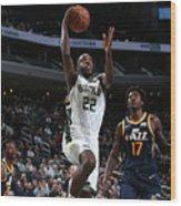 Utah Jazz V Milwaukee Bucks Wood Print