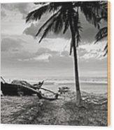 Uttorda Beach , Goa, India  Fishing Boat Wood Print