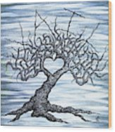 Vail Love Tree Wood Print