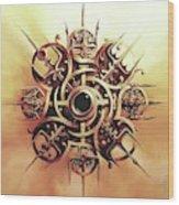 Valhalla Heart Wood Print