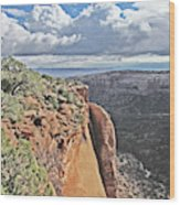 Valley Colorado National Monument Sky Clouds 2892 Wood Print