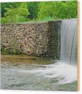 Valley Creek Waterfall Panorama Wood Print