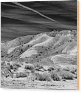 Valley Of Fire Black White Nevada  Wood Print