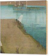 Valparaiso Harbor - Digital Remastered Edition Wood Print