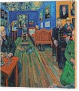Van Gogh and Van Goghs Wood Print