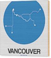Vancouver Blue Subway Map Wood Print