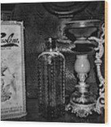 Vapo-cresolene Vaporizer And Bottle Respiratory Remedy Black And White Wood Print