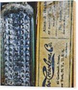 Vapo-cresolene Vaporizer Liquid Poison Bottle Wood Print