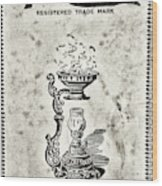 Vapo-cresolene Vaporizer Original Packaging Black And White Wood Print