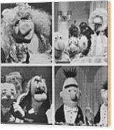 Various Muppets Scenes Wood Print