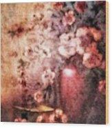 Vase And Flowers Wood Print