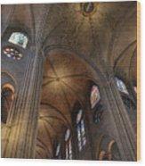 Vaults Of Notre Dame De Paris Before The Fire Of 2019 Wood Print