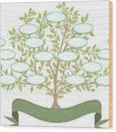 Vector Family Tree With Blank Spaces To Wood Print