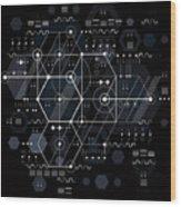 Vector Industrial And Engineering Wood Print