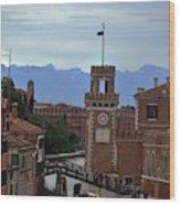 Venice Bridge Wood Print