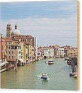 Venice Grand Canal Scene, Veneto Italy Wood Print