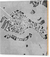 Venice Italy City Map Wood Print