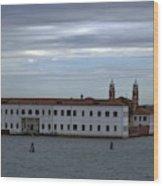 Venice Water Scene Wood Print