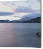 Vesteralen Coastline Wood Print