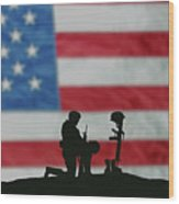 Veterans Day Soldier Wood Print