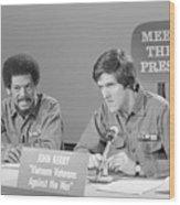 Veterans Hubbard And Kerry On Meet Wood Print