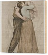 Victor Emile Prouve  French  1858   1943 The Kiss  Le Baiser  1898  Collotype On Wove Paper Wood Print