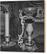 Victorian Medical Device Vapo Cresolene Vaporizer Bw Wood Print