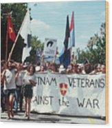 Vietnam Veterans Against War Group Wood Print