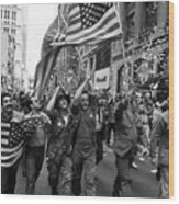 Vietnam Veterans Parade On Broadway Wood Print