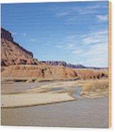 View At Sorrel River Ranch On The Colorado River Near Moab, Utah Wood Print