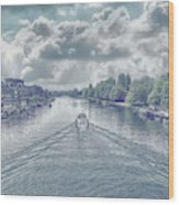 View From Kingston Bridge Wood Print